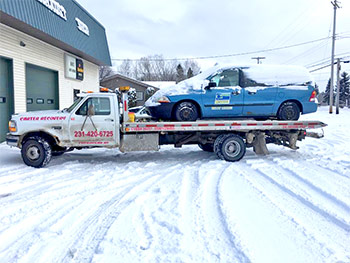 Towing Vehicle In Snow